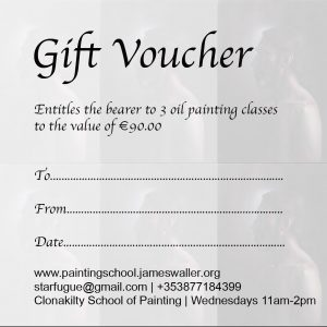 Gift Voucher: 3 Oil Painting Classes
