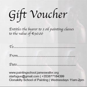 Gift Voucher: 3 Oil Painting Classes