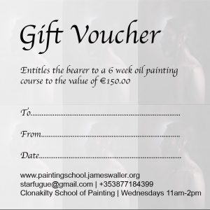 Gift Voucher: 6 Oil Painting Classes